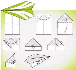 能飞上五楼纸飞机的折法