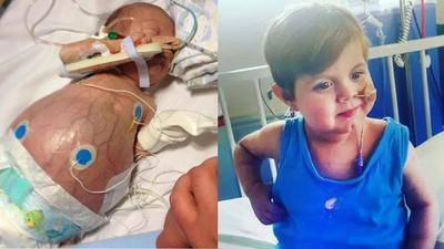 37岁的萨拉·拉蒙特来自北爱尔兰的巴利米纳,将她的一个肾脏捐给了她最小的孩子乔