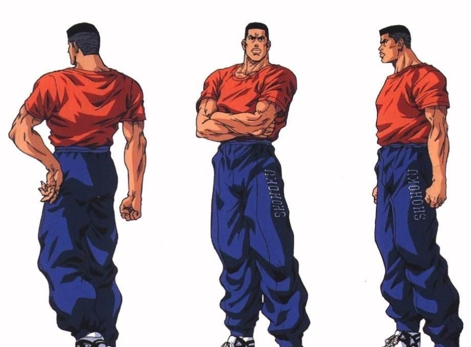 灌篮高手,赤木刚宪当年去海南高中,实现他称在家高中生舞热图片