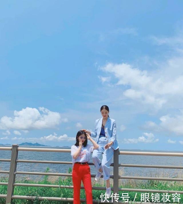 总裁范女朋友李多喜晒照,174cm的时尚穿搭指南,上演强势摸头杀