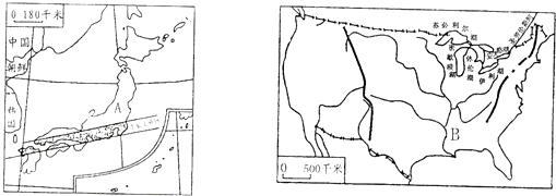 火山结构示意图简图