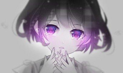 求紫色眼睛动漫人物图