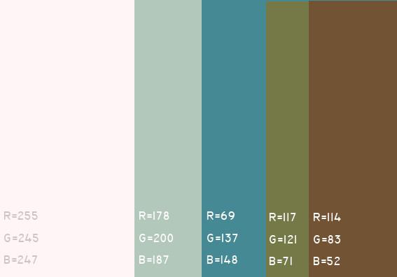 该怎样搭配颜色?