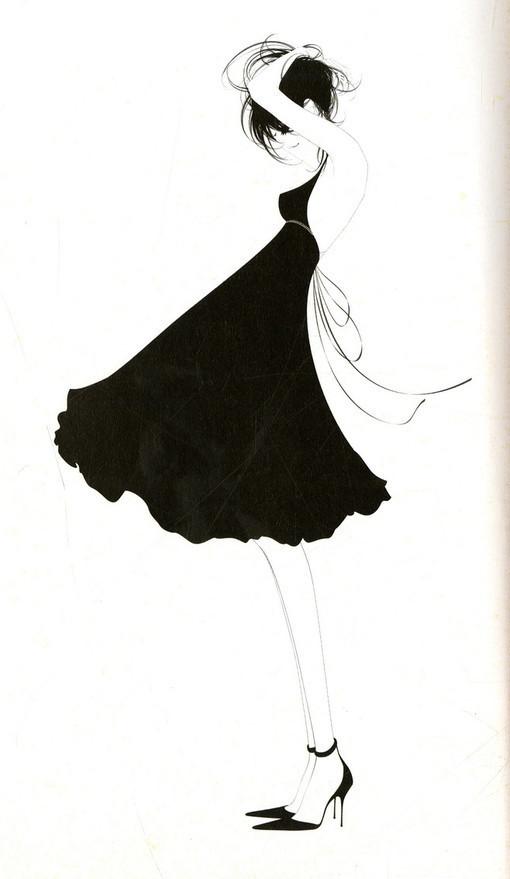 唯美黑白动漫女生图片