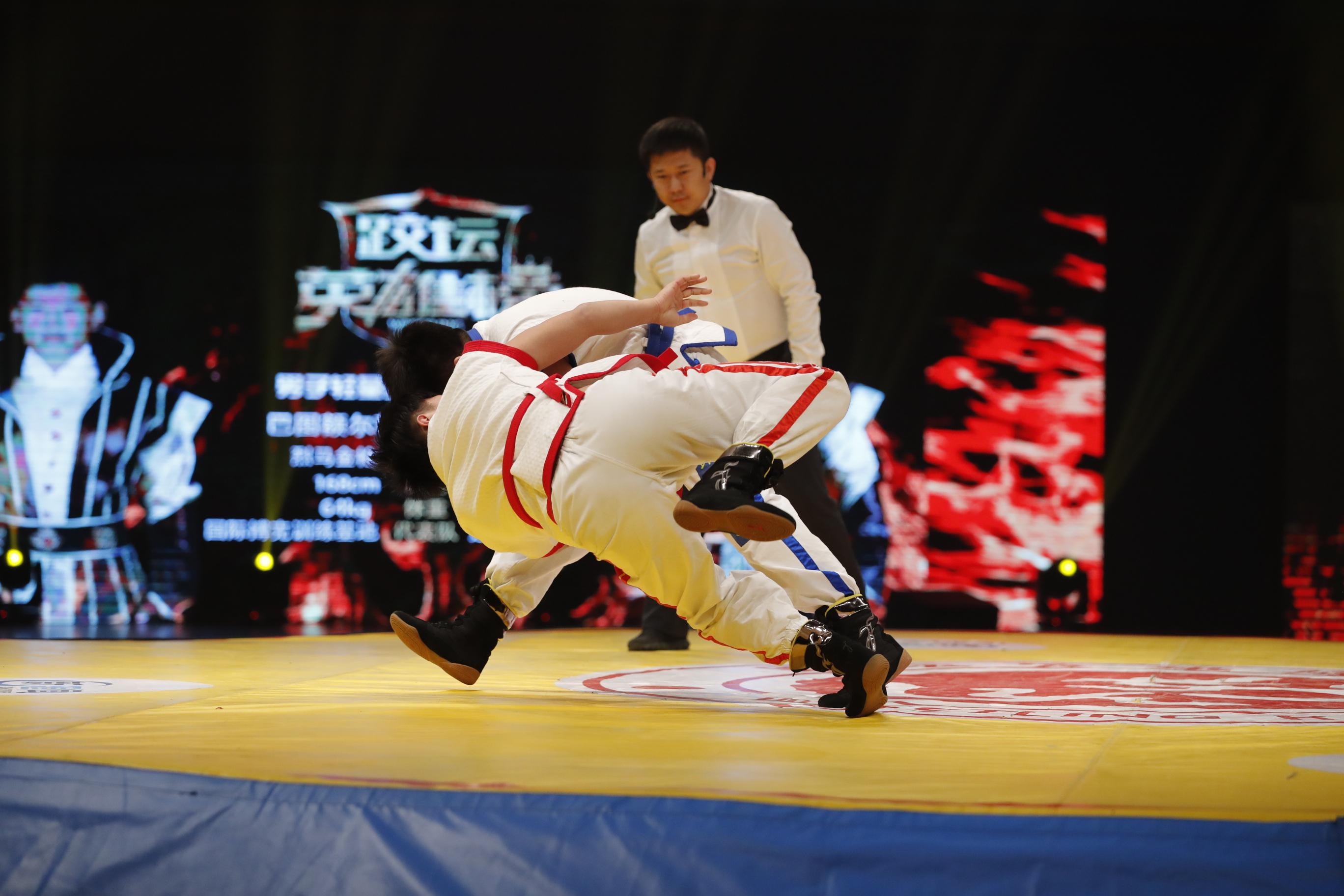 跤坛英雄榜第三轮第二场男子64kg