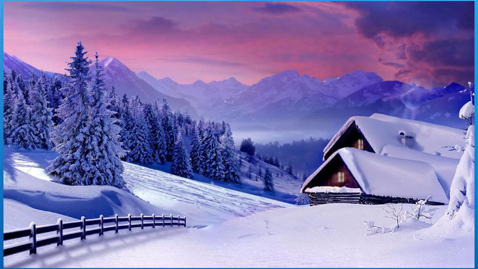 美丽的冬季背景下载