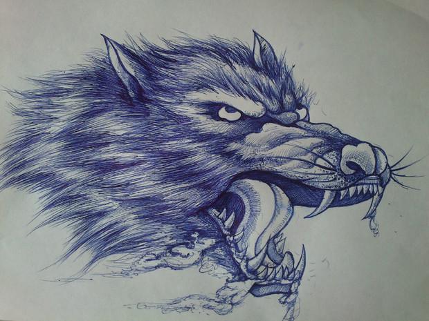 怎么画狼头铅笔画图片 图片合集