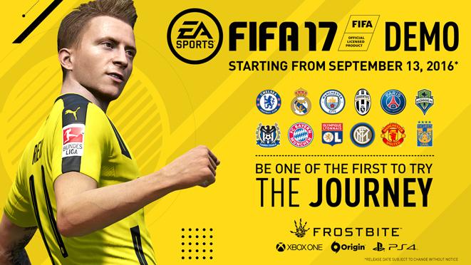 《FIFA17》试玩Demo将登录PC