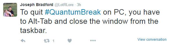 win 10版《量子破碎》竟然没有退出选项?