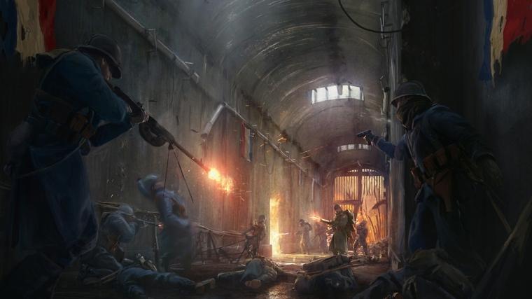 《战地1》凡尔登战役概念图