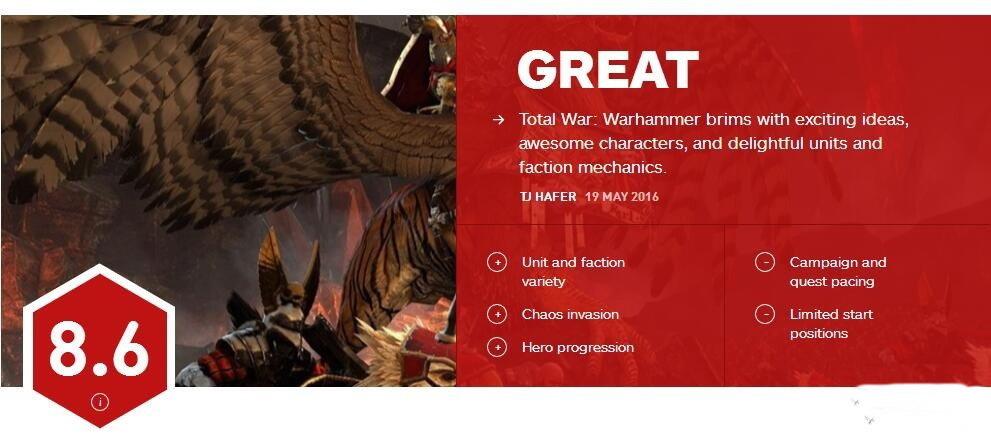 《全面战争:战锤》IGN评分