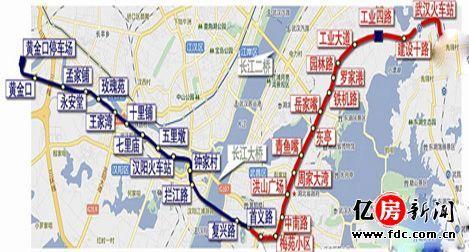 21号线地铁线路图 地铁21号线5个站要设越行线图片
