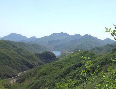 大海坨的峰顶设有一级国家水准三角控制点.山南麓为延庆县松山林场.