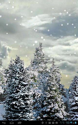 雪花飘动态壁纸截图2