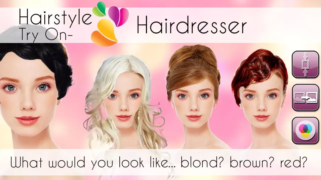 把自己或你的朋友的照片和大量的特殊的发型和头发的颜色之间进行图片