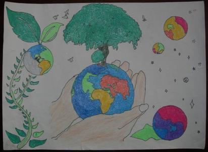 低碳生活绘画图片
