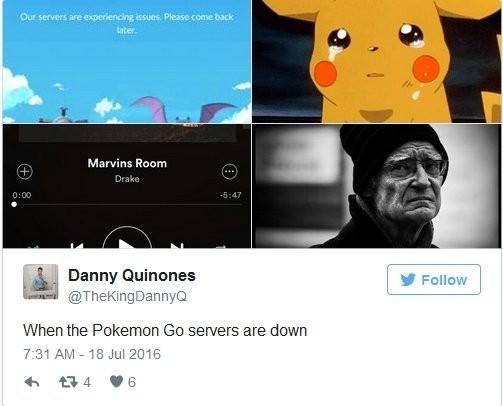 《PokemonGo》服务器崩溃
