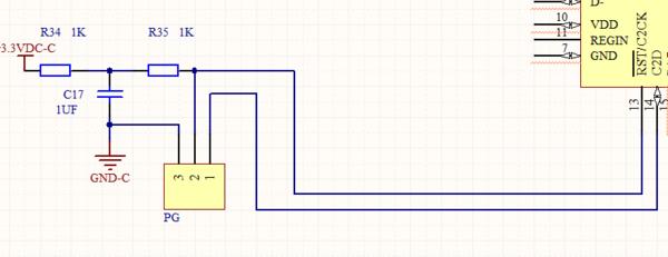 单片机c8051f340电路原理图这个是复位电路吗,还是什么,求电路分析