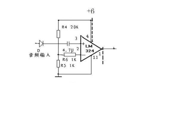 用lm324n做了一个电压比较器