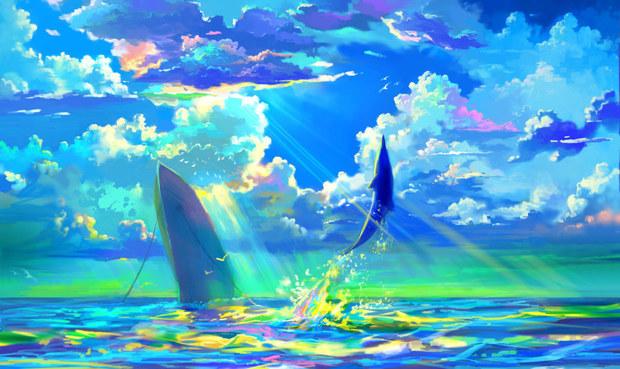 关于海洋的科幻画