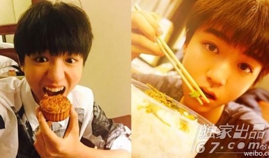 陈伟霆是吃可爱多长大的吗?吃冰淇淋这样吃满嘴真是意外的可爱啊!