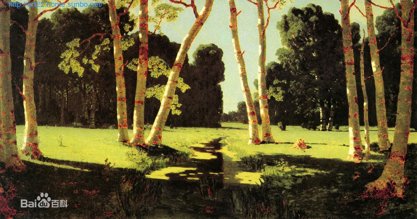 白桦林-著名油画