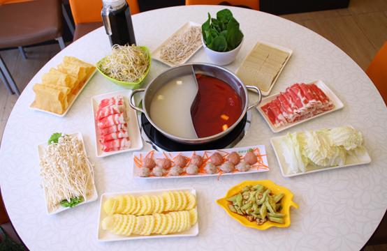 火锅的涮菜怎么摆盘