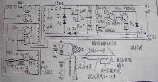 求自激高频电鱼机电路图