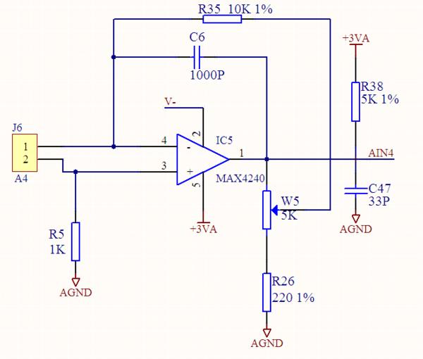 帮忙分析一下这个运放电路,输入是硅光电池的电压,输出到单片机ad口