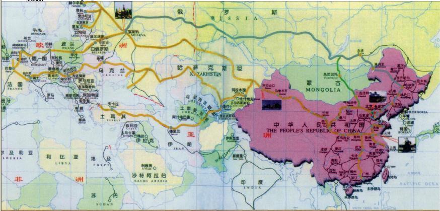 环里海地区地图