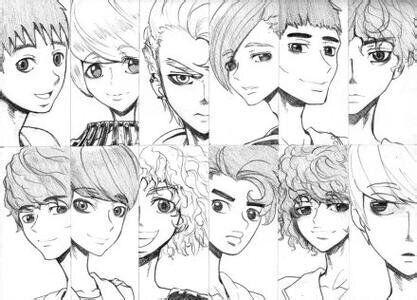 exo漫画照; exo图片全体照漫画(只要素描,加个名字更好);;
