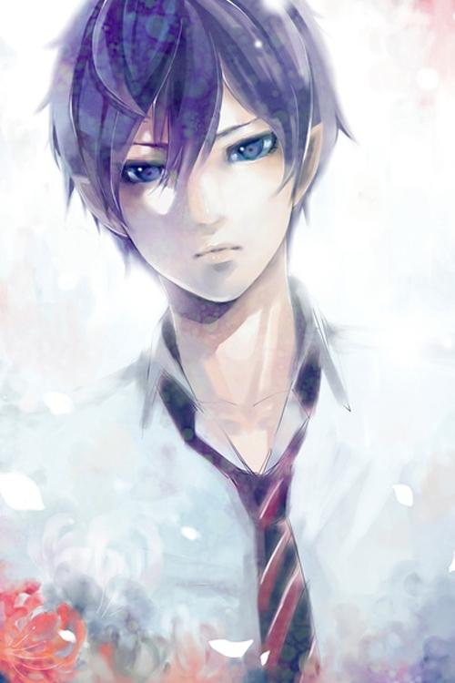求蓝眼睛的动漫男生图片