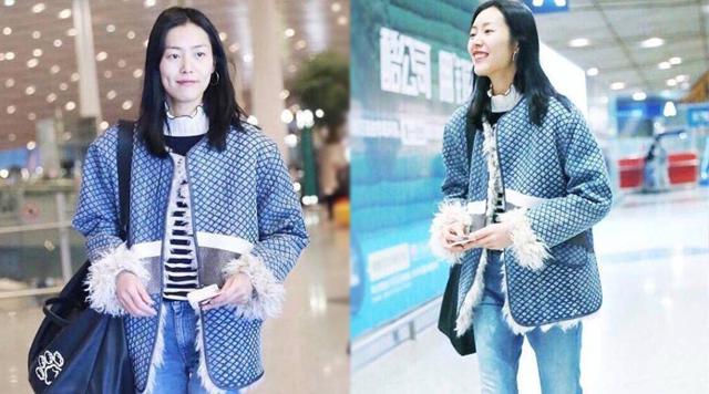 奚梦瑶和刘雯在机场的穿着,大表姐要保守许多!