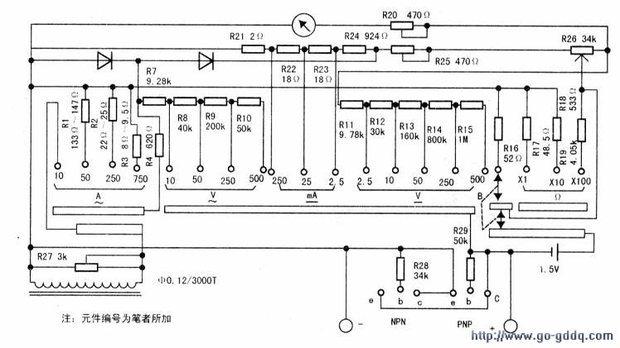 钳形电流表的铁芯是不是副线圈