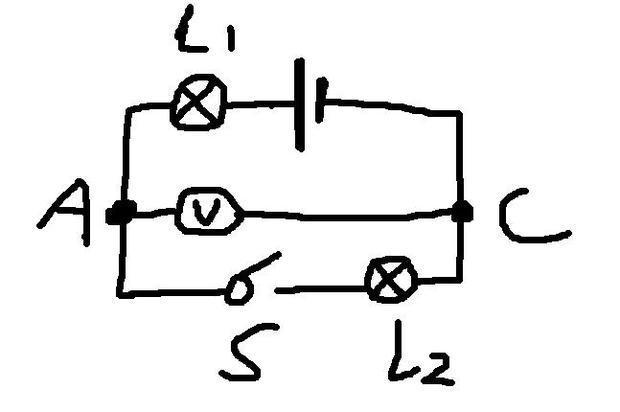 电压表测的是l2