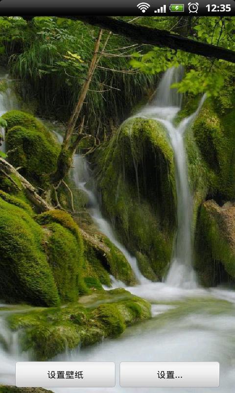 山涧溪流主题动态壁纸截图2