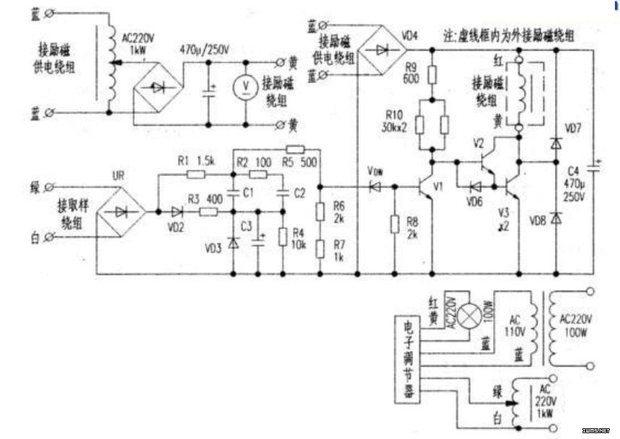 急求汽油发电机绕组解析图