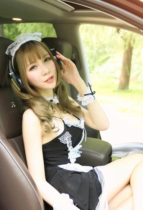 车模性感性感装制服v车模,浓眉大眼a车模可爱动漫有什么女仆图片