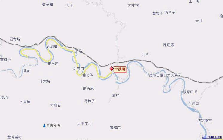 十渡镇行政地图