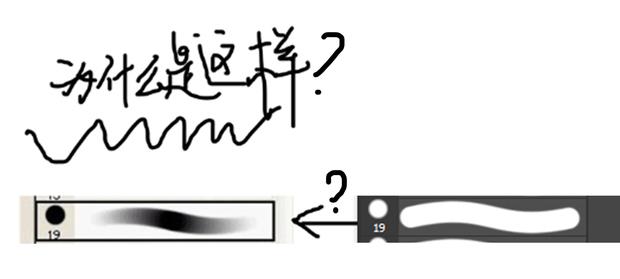 pscs6的画笔笔刷怎么设置成两头虚中间实的效果