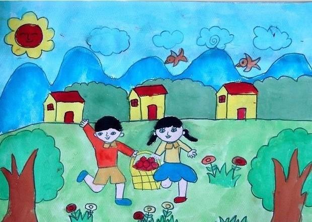 六一儿童节为主题的画【相关词_ 六一儿童节主题画】