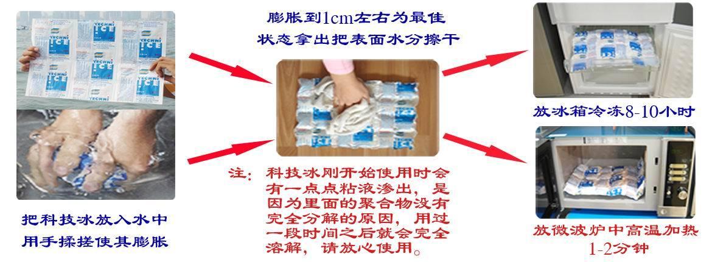 使用方法: 先把冰袋放在水里