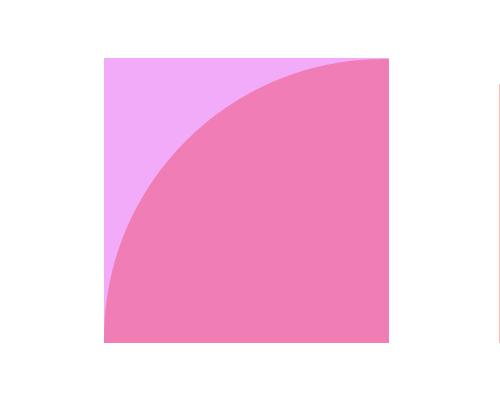 边长是 3厘米的正方形并在其中画出最大的扇形怎么画