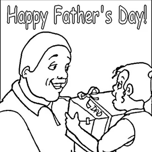 Father's Day Coloring fo Kids