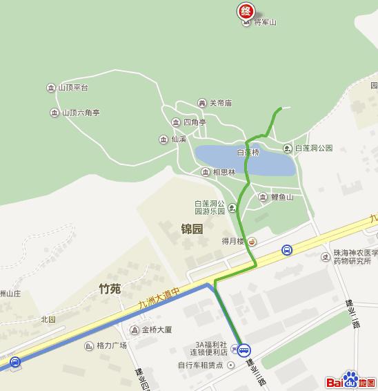 从珠海翠微巴士站去将军山怎么坐公交车啊?