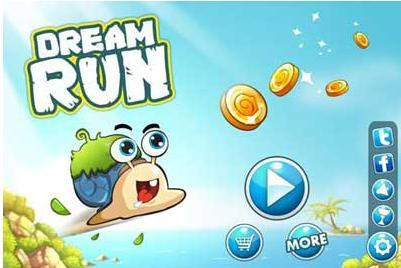 奔跑的卡通蜗牛图片