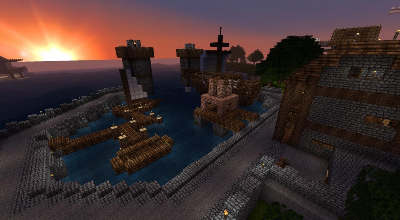 欧洲古代风格海港