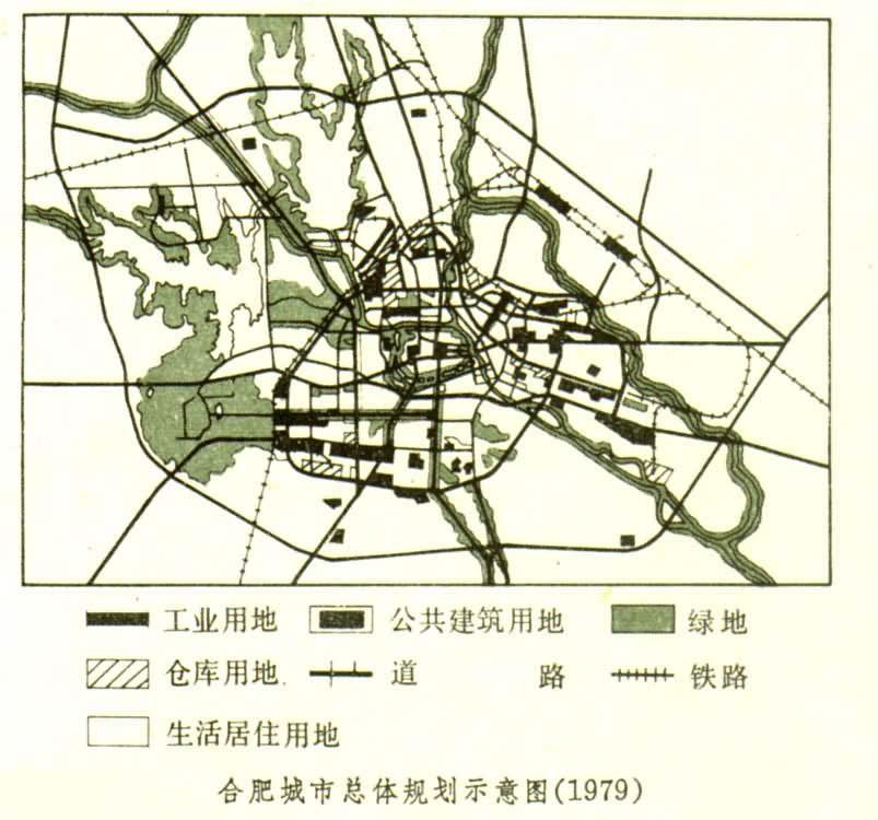 7平方公里以内.城市布局继续保持三翼形式