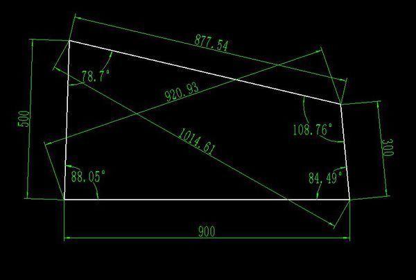 cad画出不规则四边形,长是900,宽是300,长cad粗细改多怎么段线图片