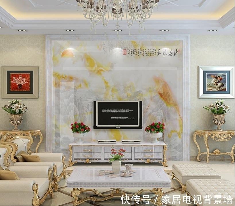 15款现代简欧风格的家居客厅背景墙,震撼登场
